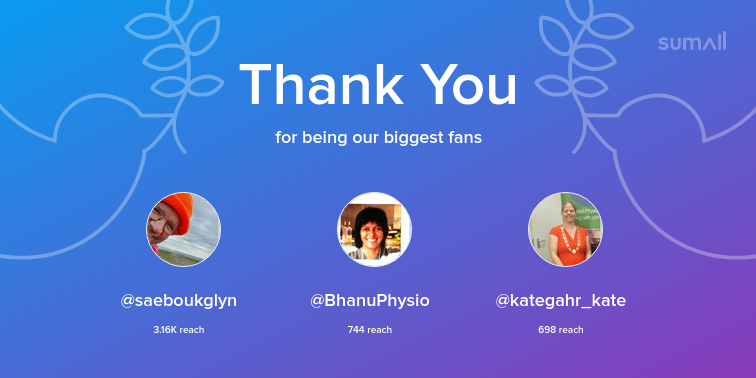 test Twitter Media - Our biggest fans this week: saeboukglyn, BhanuPhysio, kategahr_kate. Thank you! via https://t.co/Smxnf7IYIv https://t.co/7gRwvyCw9t