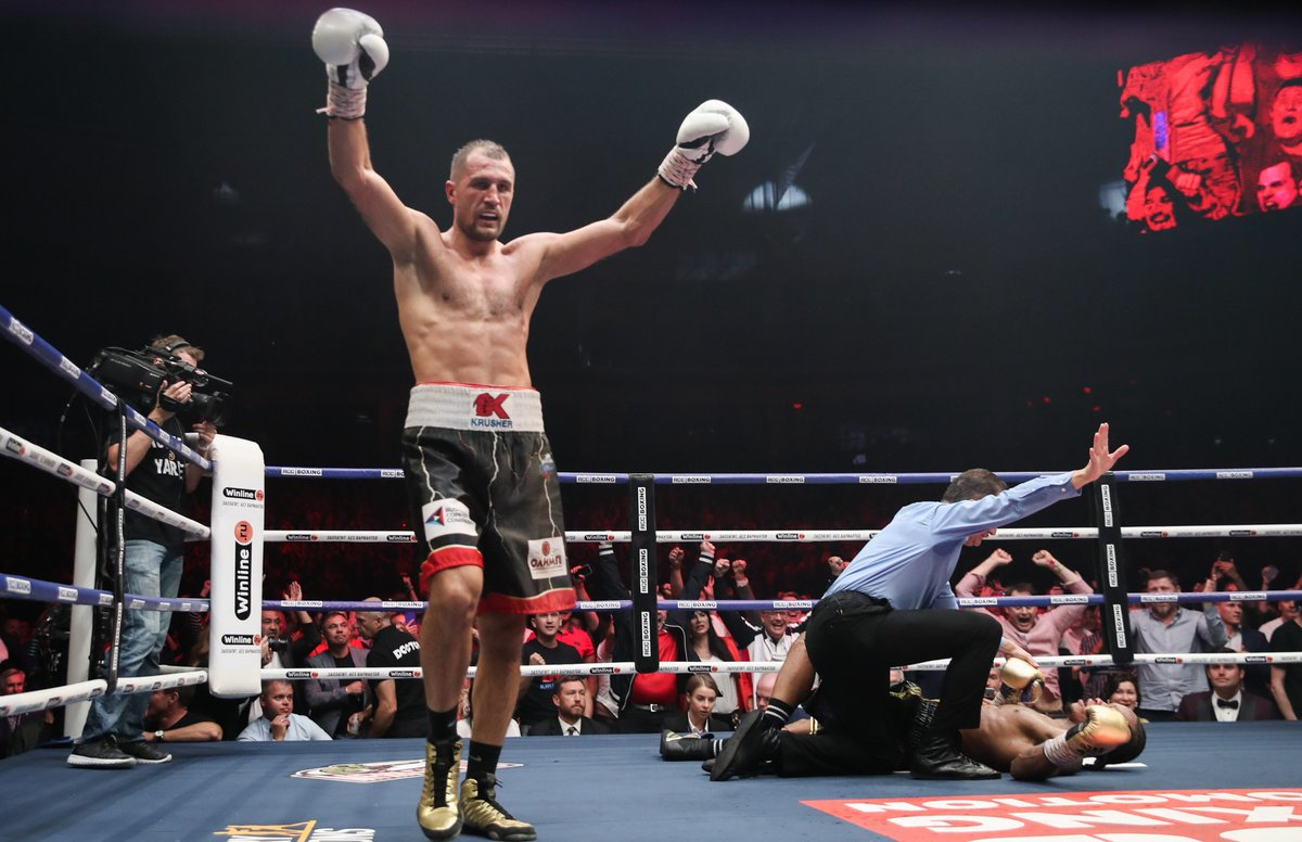 KOVALEV RETAINS WBO TITLE AGAINST YARDE IN RUSSIA 🇷🇺  @KrusherKovalev successfully retained his WBO light heavyweight title, stopping mandatory challenger @thebeastyarde  in the eleventh round... 👇  READ: http://boxing-social.com/news/kovalev-retains-wbo-title-yarde-russia/ …  #Boxing #KovalevYarde