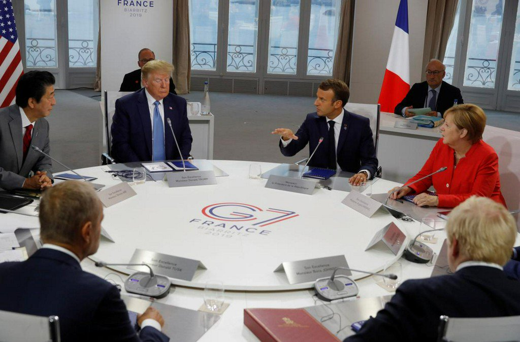 G7 leaders give Macron nod to send message to Iran: Elysee source reut.rs/2Pg8C8C