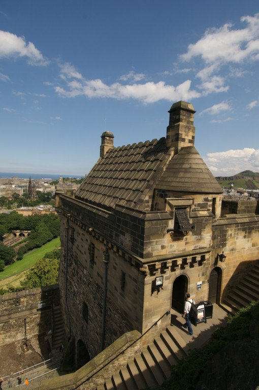 The Argyle Tower was designed by Hippolyte Blanc an Edinburgh architect. Blanc along with Edinburgh publisher William Nelson wanted to add grandeur by heightening the tower in the imagined style of the 1300s. #EdinburghCastle