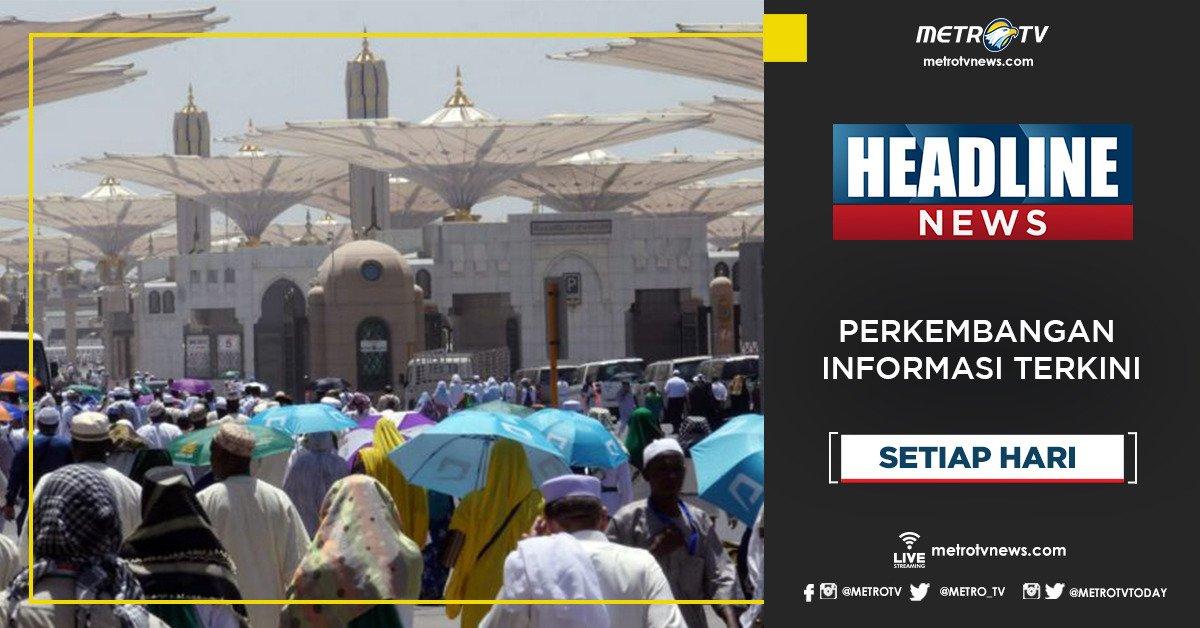 Dapatkan perkembangan informasi terkini dalam #HEADLINENEWS pukul 17.00 WIB di @Metro_TV #KnowledgeToElevate #HeadlineNewsMetroTV http://metrotvnews.com