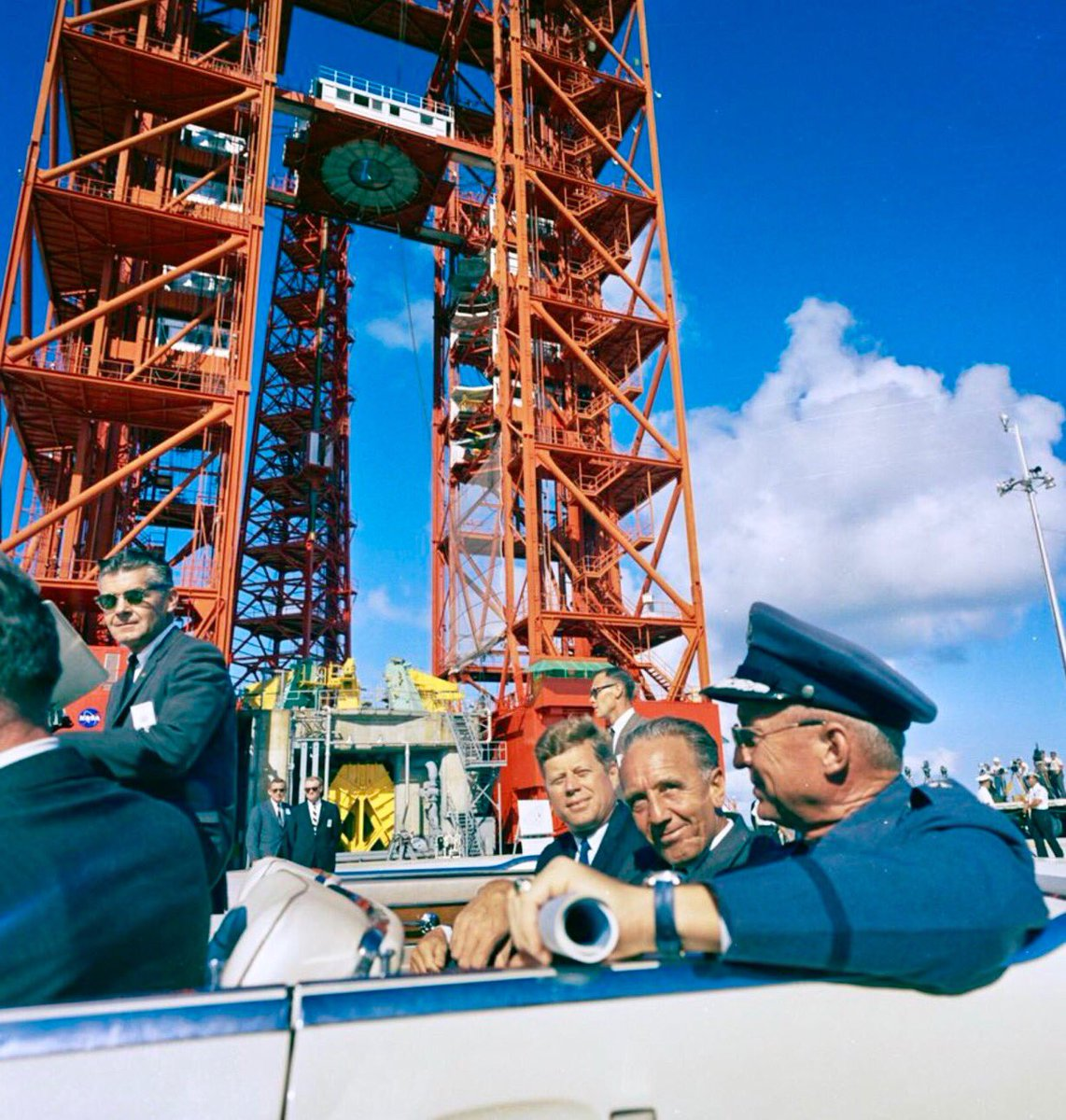 JFK at Cape Canaveral, this week 1962:      #JFKL