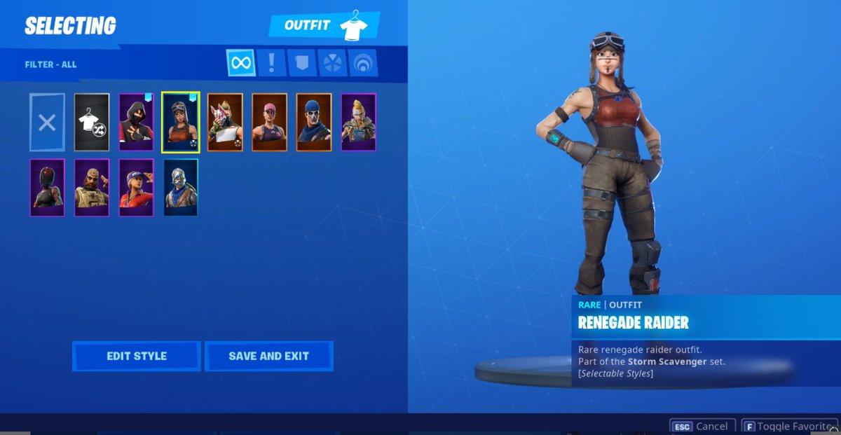 Since There's only 9 skins  ONLY 70 $ FIRST COME FIRST SERVE #renegaderaider #fortniteaccountforsale<br>http://pic.twitter.com/cvAx6HnMfg