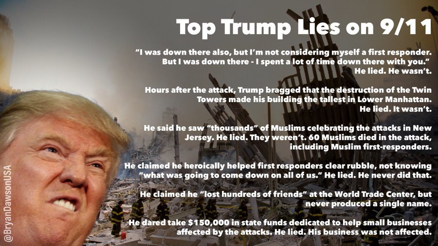 """As we remember the victims of the 9/11 attacks, let us recall the Taliban just issued a statement in support of Osama bin Laden  GW Bush said: """"I don't know where bin Laden is. It's not that important. It's not our priority""""  Trump invited the Taliban to Camp David  #TalibanTrump"""