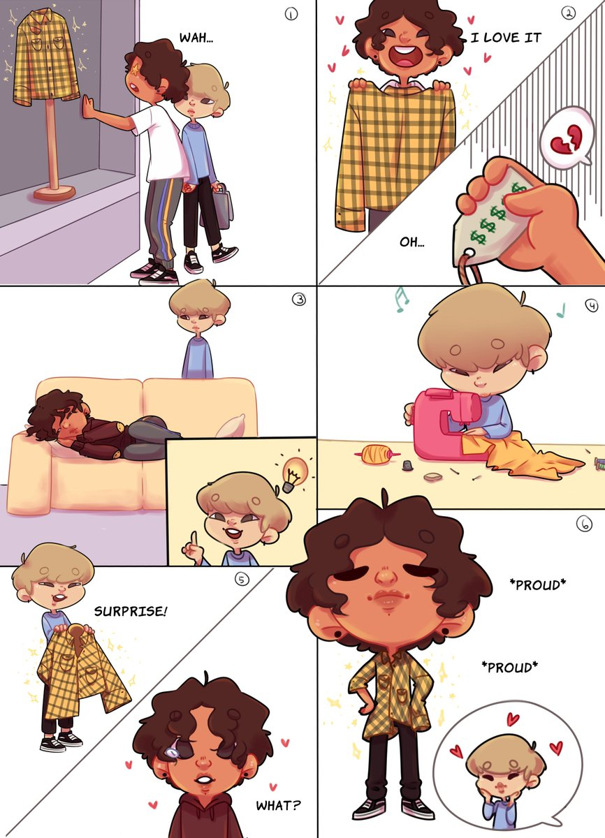 I made this small #Jikook comic of an idea i didn't know how to show just in one drawing, I thought it'd be a really cute idea, I hope you all think the same! #kookmin #btsfanart<br>http://pic.twitter.com/d36Cm7cZ2r