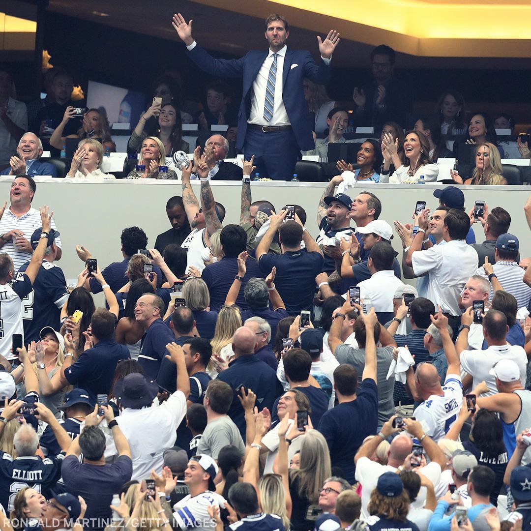 Dirk is absolute royalty in Dallas 👑