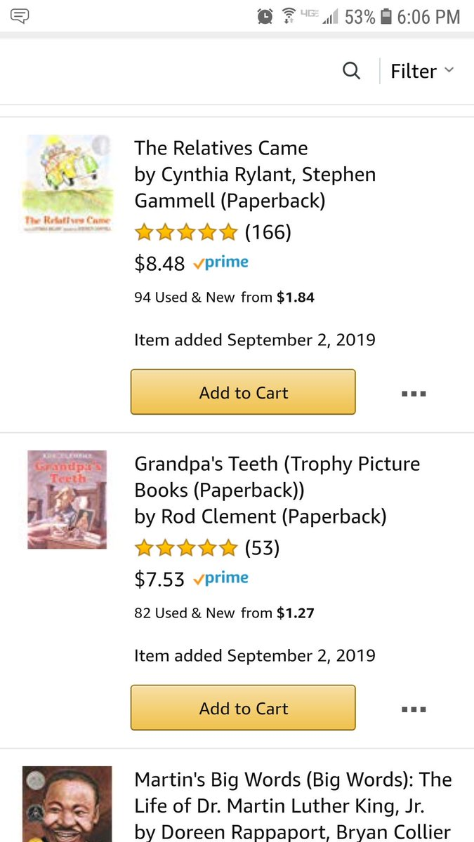 I can't think of any better way to celebrate #InternationalLiteracyDay than by receiving  to promote more reading in my classroom!  My 2nd graders get so excited over read-alouds & new books. Please help me #clearthelists #support_a_teacher #helpateacher  https://www. amazon.com/hz/wishlist/ls /3528D3WJ3WQOY?ref_=wl_share  … <br>http://pic.twitter.com/PUIJjuSqeA