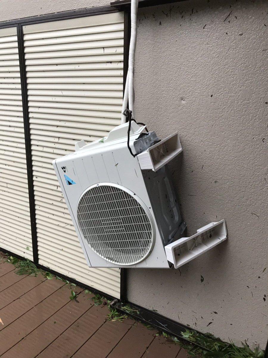 対策 機 エアコン 室外 台風