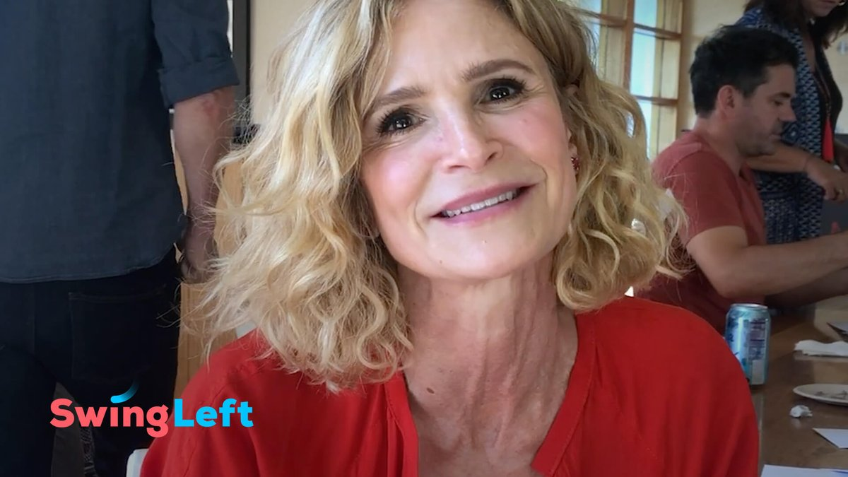 The next blue wave starts now! No matter where you live, you can help flip Virginia in 2019. Volunteers like @KyraSedgwick are getting together to turn out VA voters by mail. Join Kyra today at swingleft.org/letters! #AllinforVA