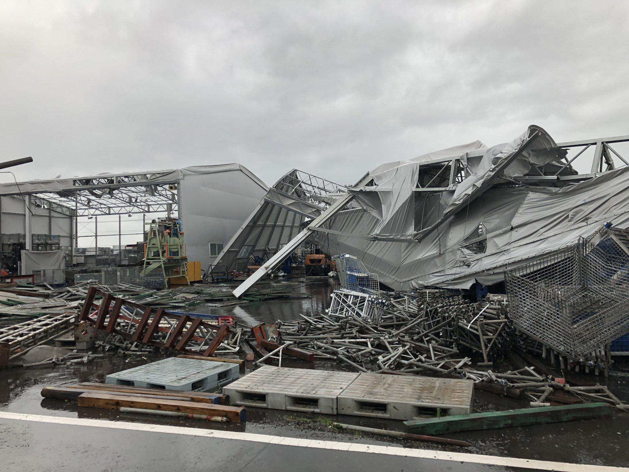 画像,千葉台風被害に遭われている方々頑張りましょう!オレも頑張ります!この瓦礫の中ハーレーちゃん奇跡的に生き残ったのが救い… https://t.co/GIujD2e…