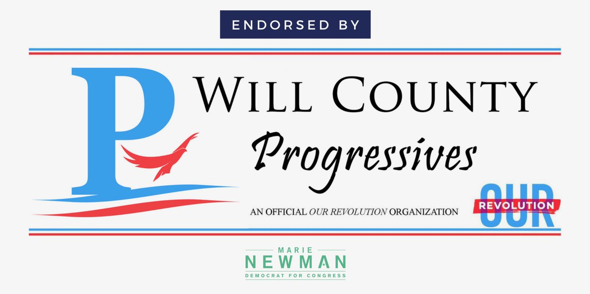 Thank you for your endorsement, @will_county! Our campaign is powered by grassroots support from organizations like theirs and together we will fight to create a green economy that works for everyone, pass #MedicareForAll, and make our lives more affordable. #NewDayInIL03 #IL03 <br>http://pic.twitter.com/Z1ZivLOTWZ