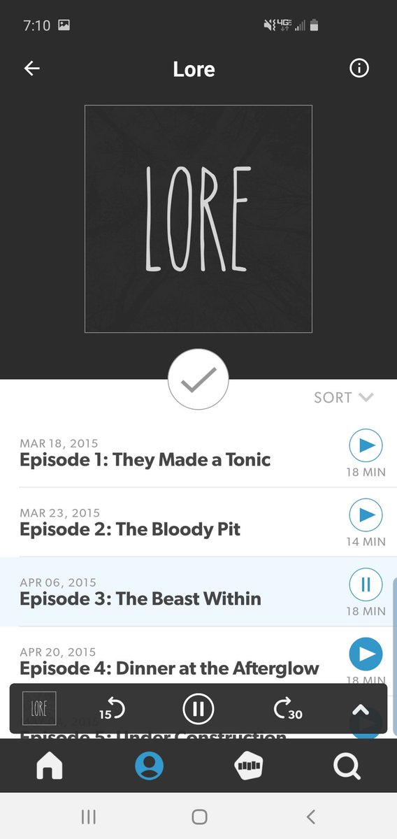 Just downloaded the @Stitcher app and I'm loving it! Relistening to @lorepodcast from the start!
