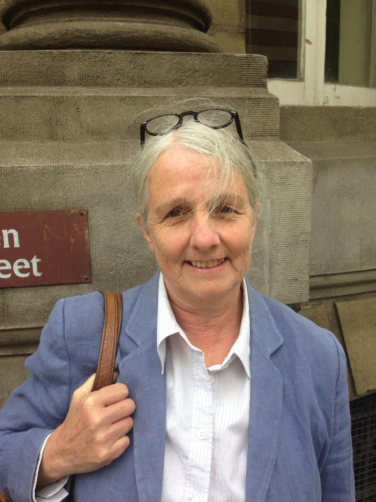 Joy Rowell, 70, former teacher who taught ethics. After trying to engage MPs through the normal channels, she thinks it's a necessity to turn to civil disobedience to demand government #ActNow  #xrfridayrebels #humansofxr #RebelForLife #ExtinctionRebellion<br>http://pic.twitter.com/PvXKNmgN55