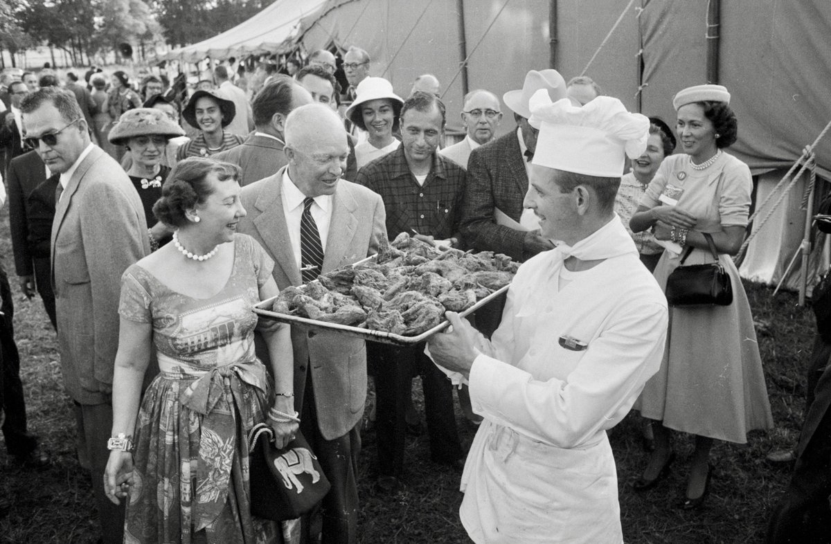 Eisenhowers launch reelection campaign with picnic at Gettysburg farm, next week 1956:               #LOC