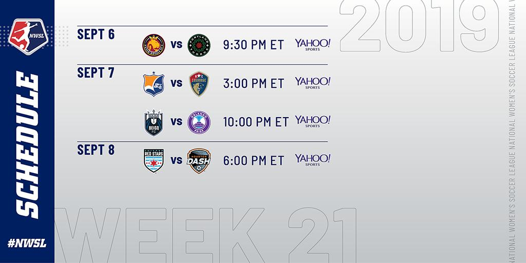 👀 A full slate of games this weekend, starting tonight. #NWSL