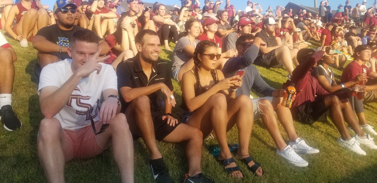 The Plex is PACKED!! Pete, Jacob, Villa and BMac out here supporting the home team @FSUSoccer