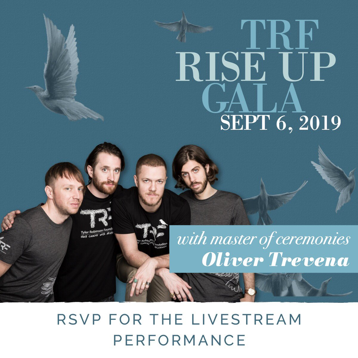 tune in tonight at 9:30pm pst to catch the livestream of our performance at the RISE UP Gala benefiting @TRFdotORG. TRF supports pediatric cancer families by providing grants to offset their basic life expenses, so they can focus on what matters most. bit.ly/2019GalaLivest…