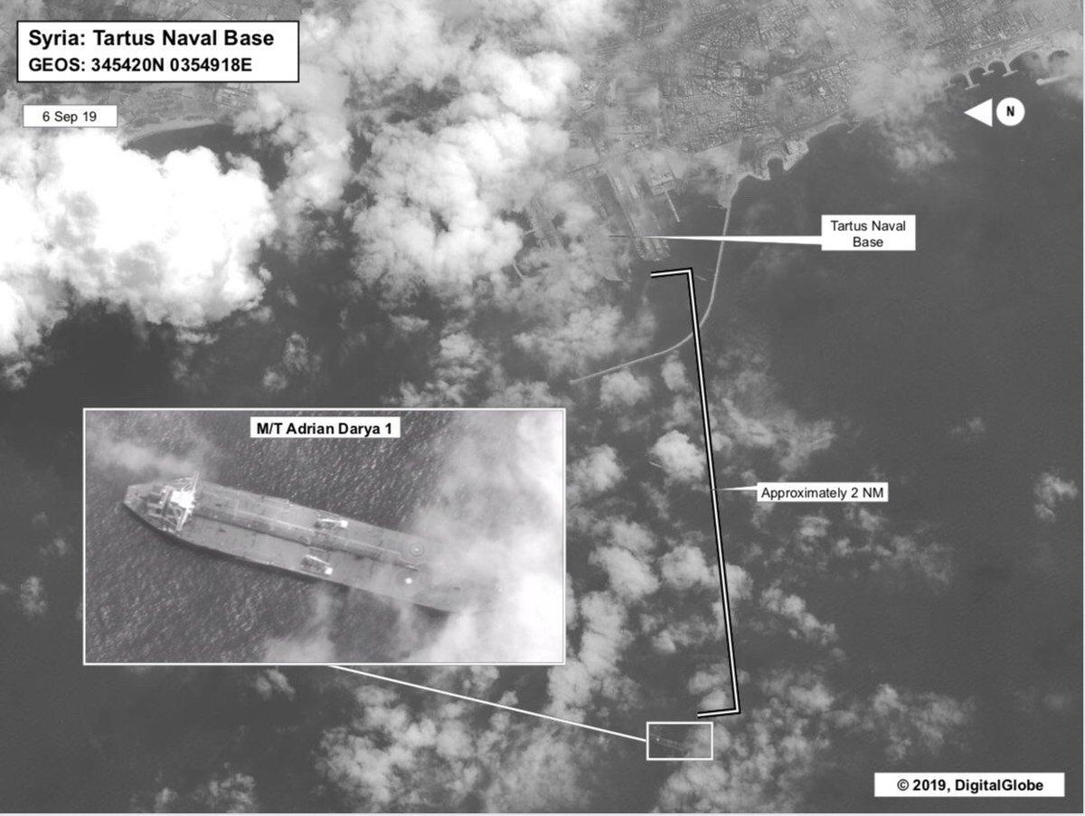 Iranian Tanker Seen Near Syria 'Unloaded Its Cargo,' Tehran Says