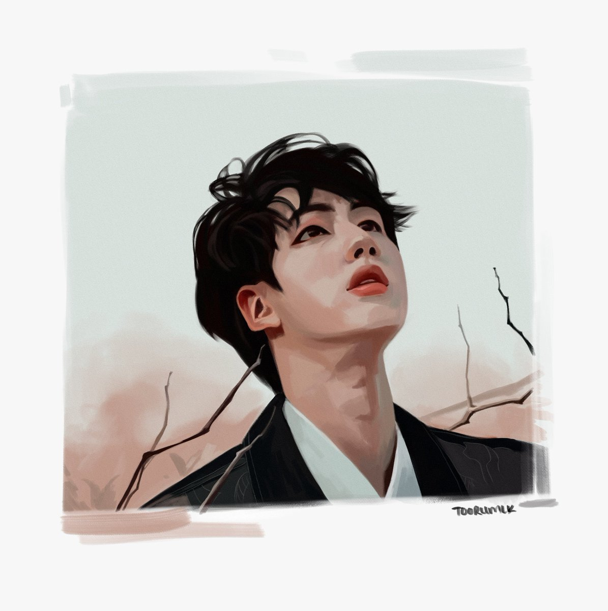 another photo study  i wanted my brush strokes to show more in this one   #btsfanart #seokjin<br>http://pic.twitter.com/kayXyZ6fQ8