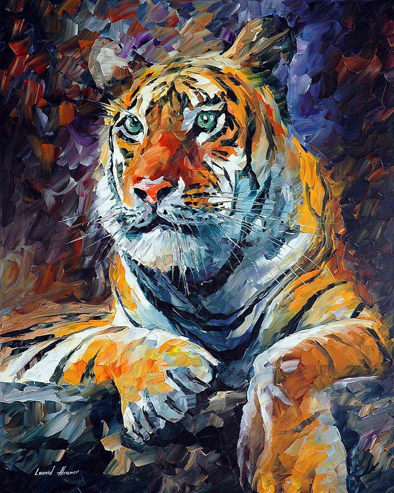 Надписями днем, картинки нарисованные цветные художниками с тигром