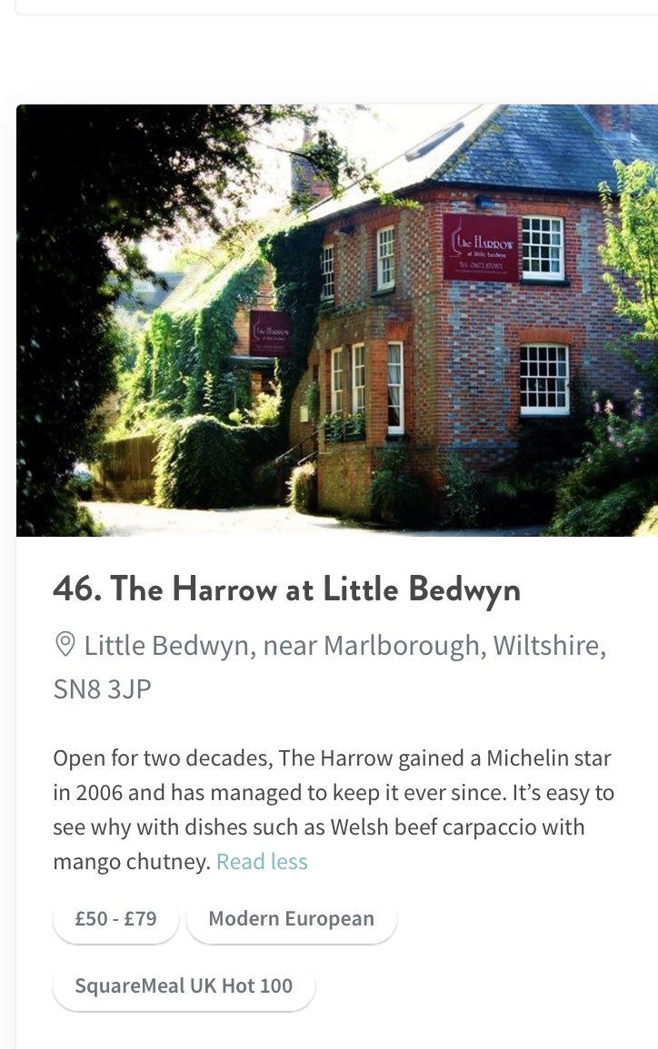 Delighted to hit number 46 in UK Top 100 restaurants