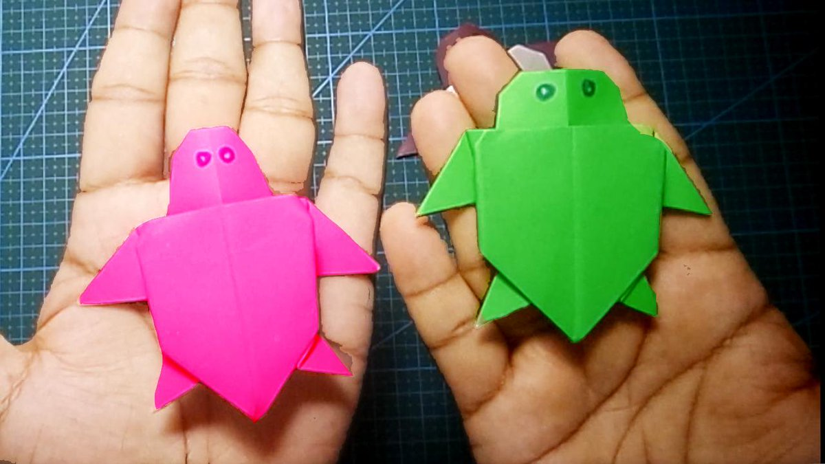 How To Make an Easy Origami Turtle | Easy Paper Origami Turtle ... | 675x1200