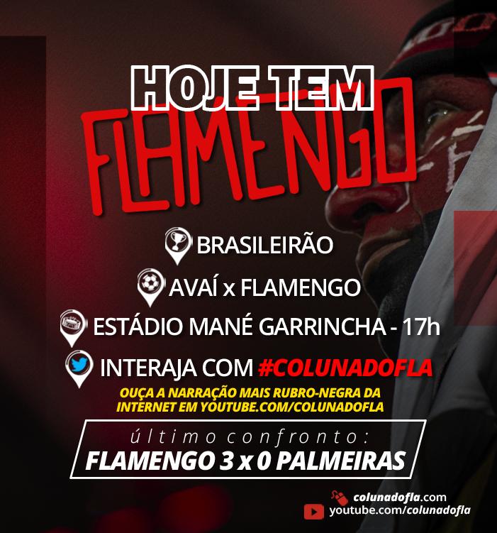 Coluna Do Fla Flamengo On Twitter Hoje Tem Flamengo O Mais Querido Enfrenta O Avai Em Brasilia Pelo Campeonato Brasileiro Se Vencer Continua No Topo Da Tabela Vai Pra Cima