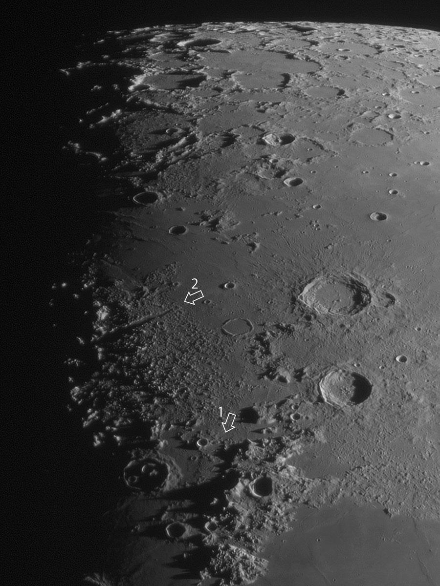 RT @halley_7898: 9月6日の月面散歩。いくつか面白そうなところに矢印を入れてみた。よく見りゃもっとあるのだが、お散歩のキッカケになればいいなと思う。  #LunarWalk #月面散歩 https://t.co/VTYYGc3FWX