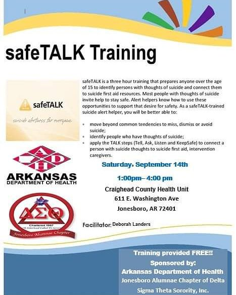 Register for our safeTALK training at  https://www. eventbrite.com/e/safetalk-tra ining-tickets-71799326719?utm-medium=discovery&utm-campaign=social&utm-content=attendeeshare&utm-source=strongmail&utm-term=listing  …  to reserve your spot. Come out and learn the warning signs and how to prevent someone you know from death by suicide. #DST1913 #ServiceInOurHeart #PhysicalandMentalHealth #DeltaCare<br>http://pic.twitter.com/VIL32BSjOk