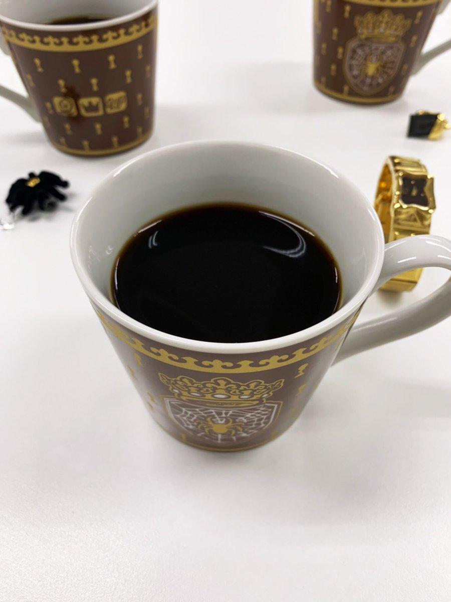 これからSweet Chocolate Spiderチームの取材があります。時間までコーヒーを頂いています。