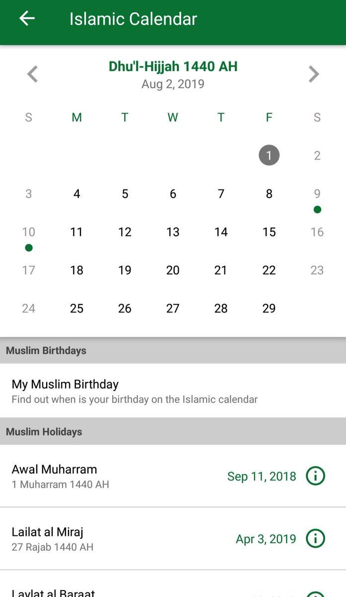 Date islamic Islamic Calendar