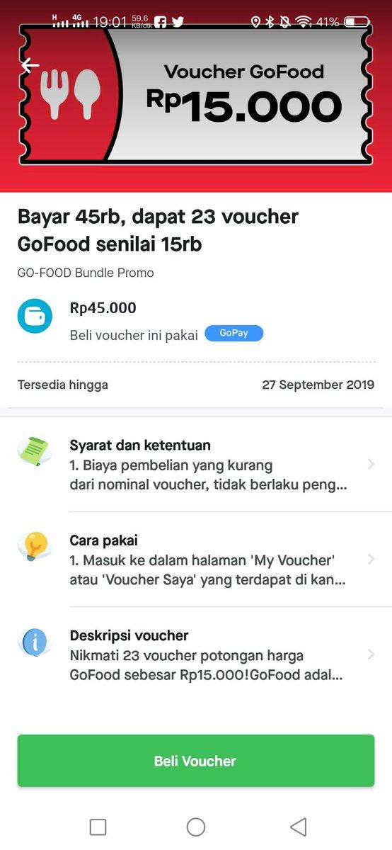 Bym On Twitter Ini Yang Kalian Tunggu Tunggu Nih Link Voucher Go Food 15k Https T Co Pkvymcfv3c