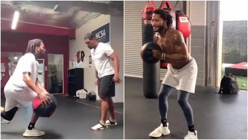 苦練膝蓋+上肢力量!31歲羅斯今夏更強壯了,活塞這1500萬花得太值!