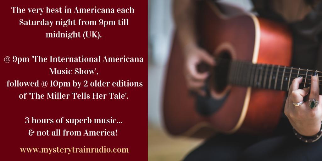 9PM UK = #Americana time! Michael Park with new trks from non American artists/bands & 10PM Karen Miller hosts The Miller Tells Her Tale inc. @thelowanthem @HappyWoman9 @joshritter @LoriMcKennaMA @hayescarll. Listen @ mysterytrainradio.com/listen or @tunein - tunein.com/radio/Mystery-…