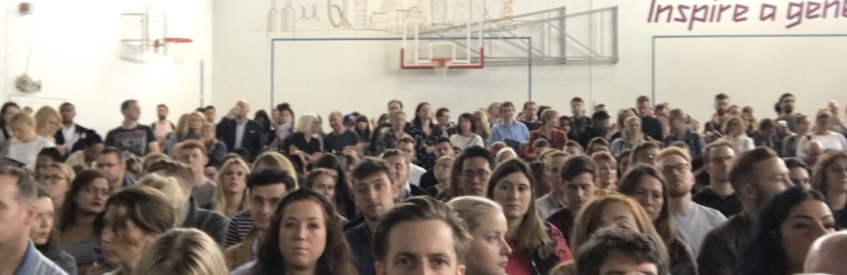 What a sight! Standing room only at #rED19