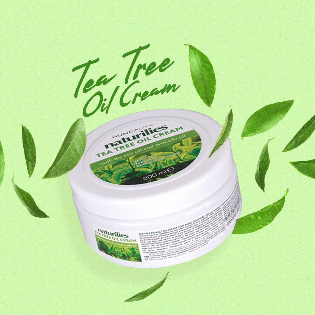 Sonbahar'da kuruyan cildini rahatlat. Naturilies Çay Ağacı Kremi, içeriğinde yer alan çay ağacı ve avakado yağı sayesinde cildine derinlemesine ferahlık sağlar. 🌿💚