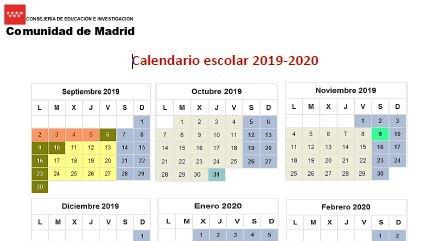 Calendario Escolar 2020 Madrid.Ies Maria Guerrero On Twitter Calendario Del Curso 2019