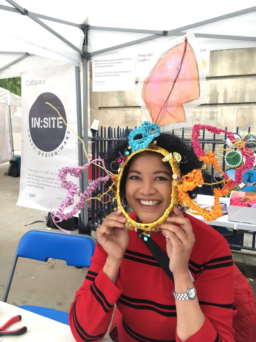 Come and create a colourful mask then pose for a photo like artist Mary-Joyce! #insite19
