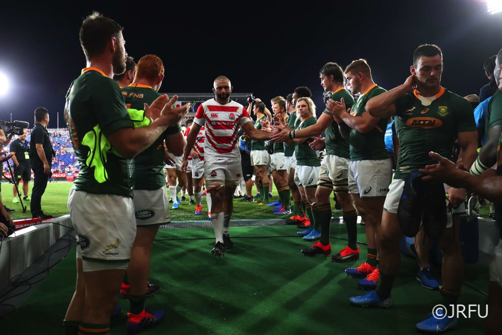 Japan Fall to South Africa Read full story here: en.rugby-japan.jp/2019/09/07/jap… #rugbyjp