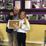 Freya receiving her award this morning - 3rd place - Photofold Photography Competition #klikhappy