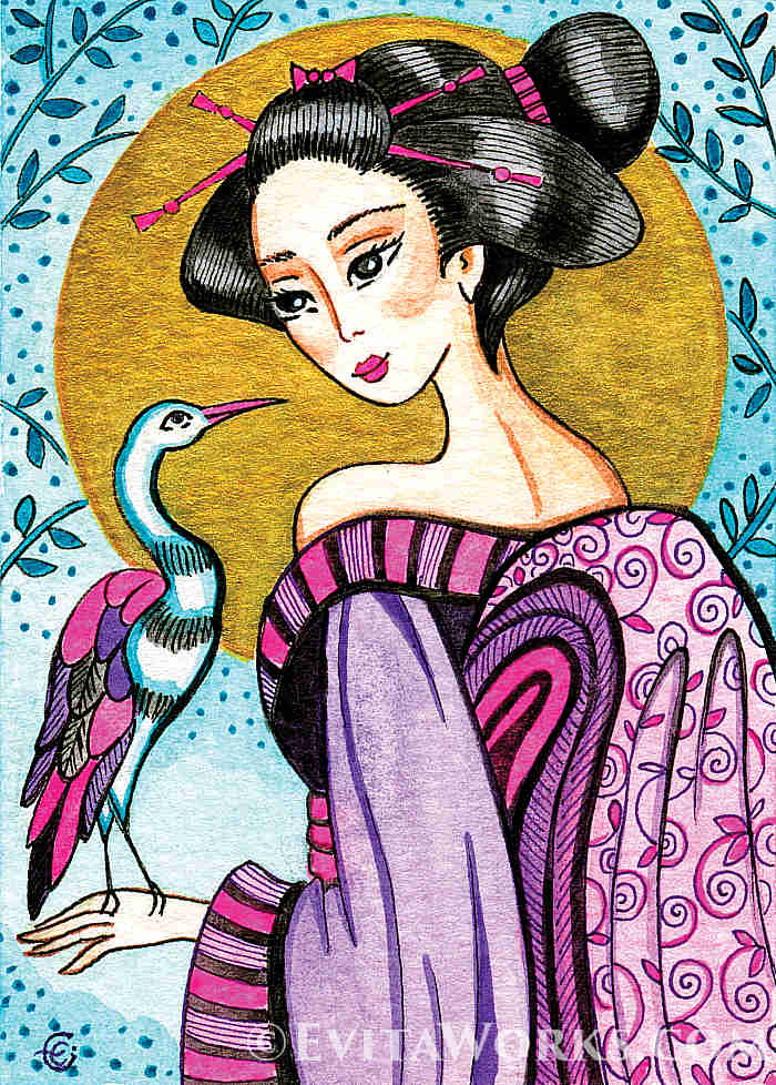 ~ Geisha 38 ~ Varied hand-made crafts with this motif available here:  https://evitaworks.com/artwork/ao-geisha-38 … -- #AsianCollectionII #painting #woman #geishakimonoflower #beautifulwomanart #femininebeauty pic.twitter.com/RNhyvnqrGX