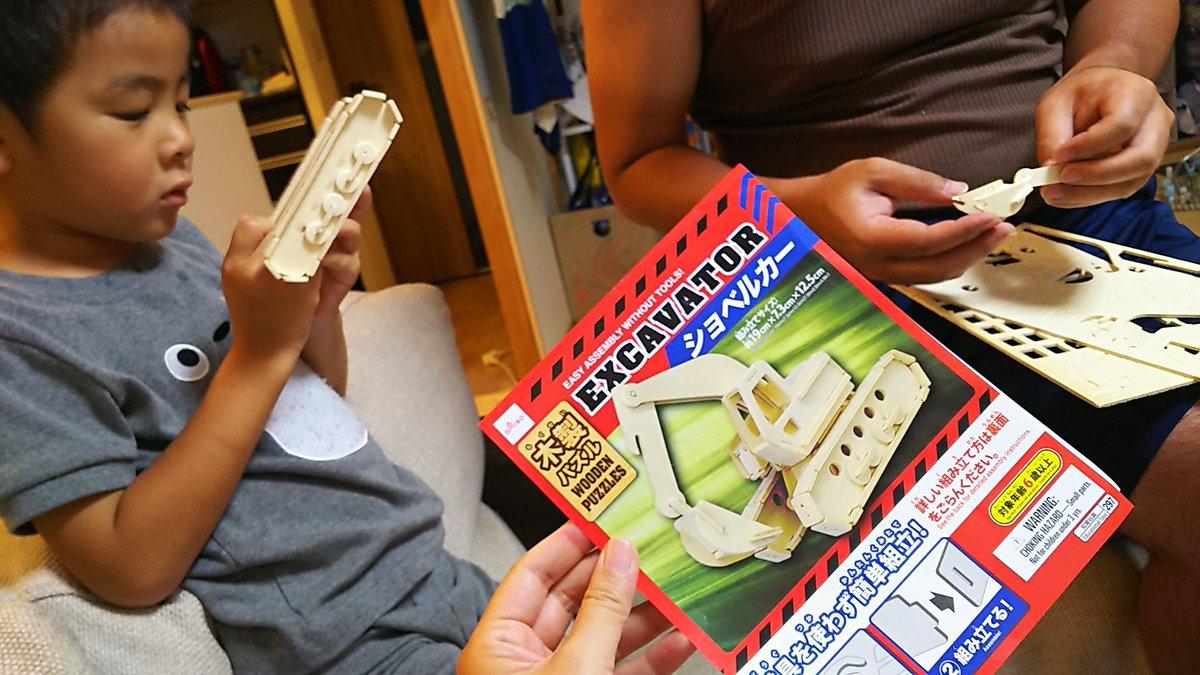 test ツイッターメディア - ペーパークラフトの次は木製立体パズル?にはまった5歳。 100きんのクオリティがすごすぎる! #ダイソー https://t.co/RQOvJcmaMQ