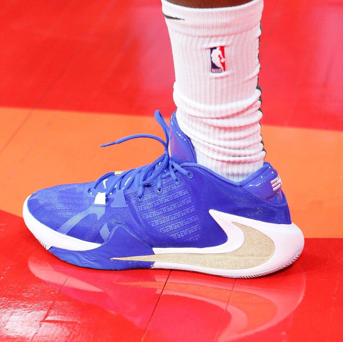 "🇬🇷 @Thanasis_ante43 in the ""Greece"" Nike Zoom Freak 1 at the @FIBAWC! #NBAKicks"