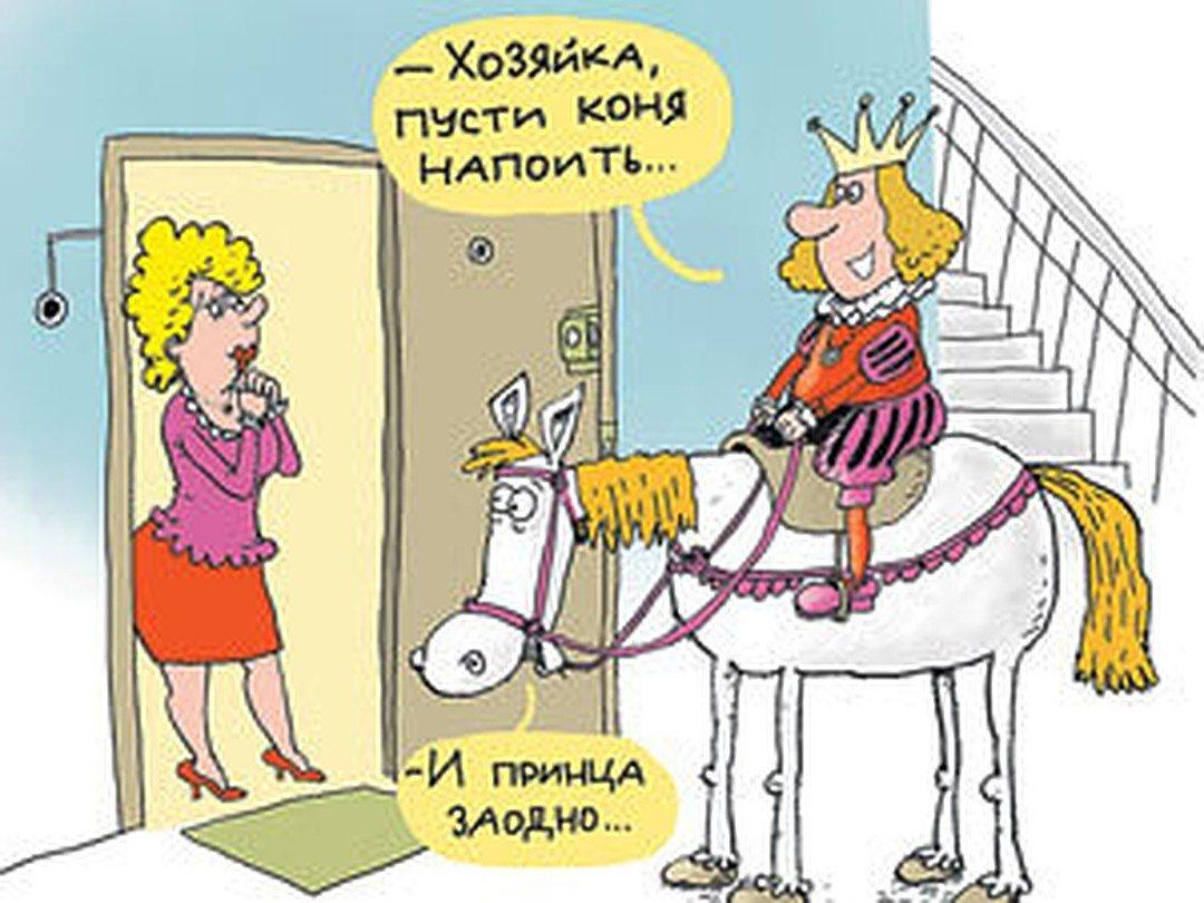 Прикольные картинки про принцев на белом коне