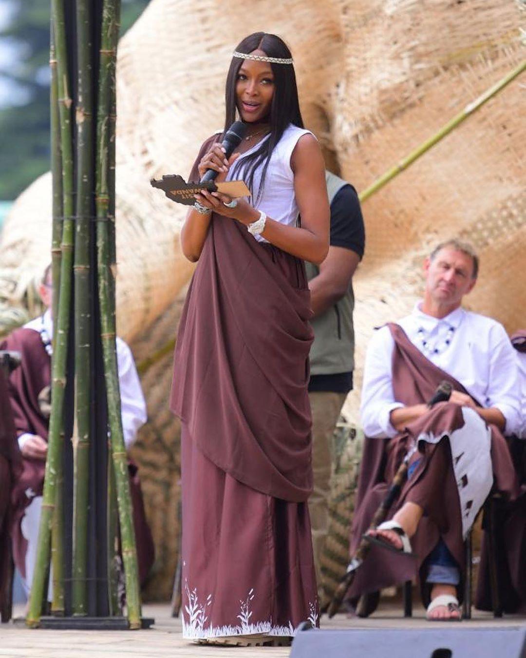 Наоми Кэмпбелл на церемонии Квита Изина