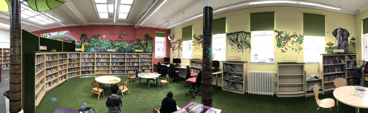 The children's section in my local library has been redecorates! How gorgeous is this?! @MertonLibraries