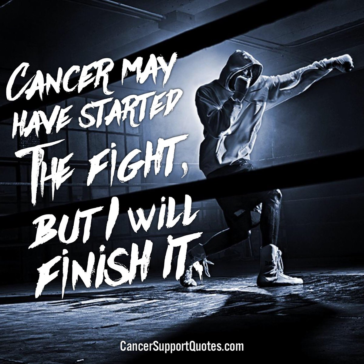 Cancer may have started the fight, but I will finish it ...
