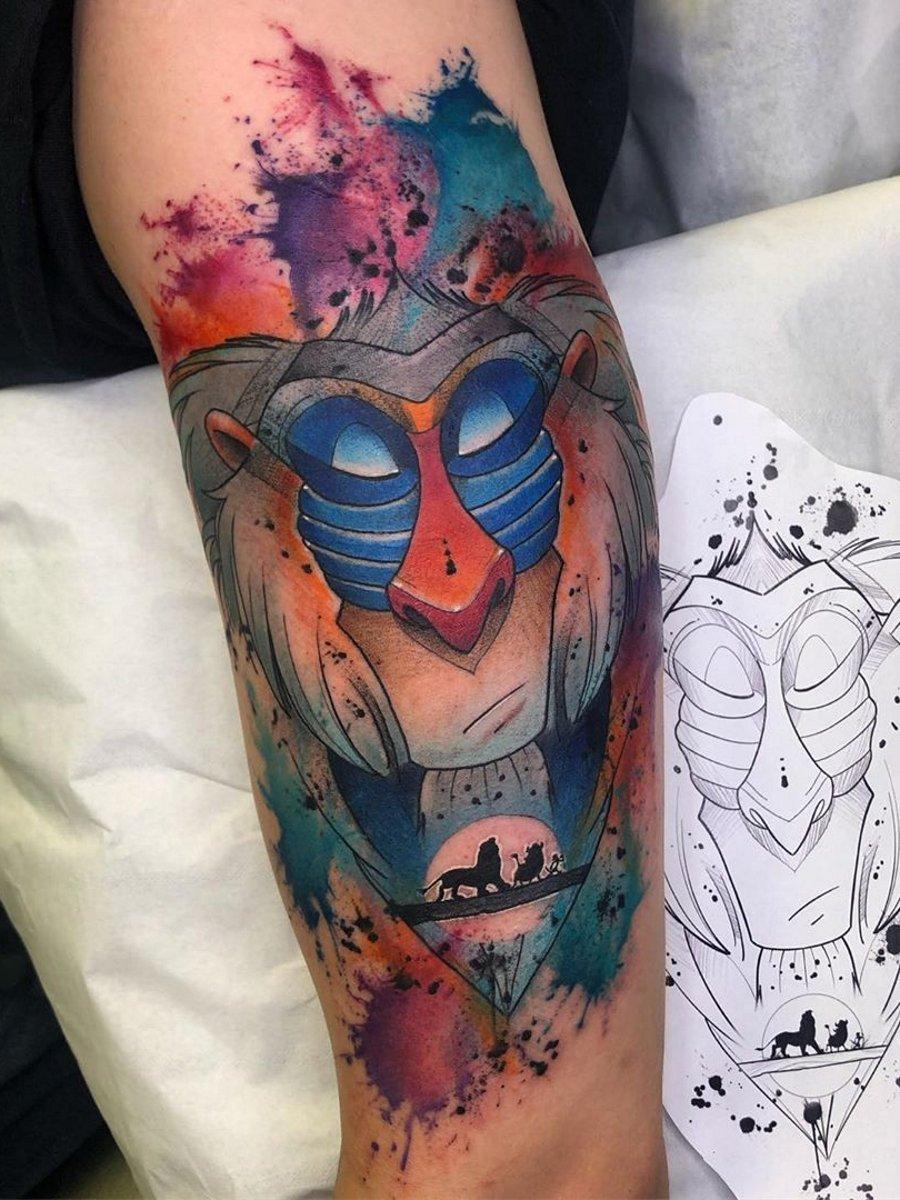 Ramon On Twitter Danny Duggan Rafiki The Lion King Tattoo Ink Art Stigma tattoo ink set 15 ml 1/2oz 14 bottles tattoo pigment set 14 color superior tattoo ink set. danny duggan rafiki