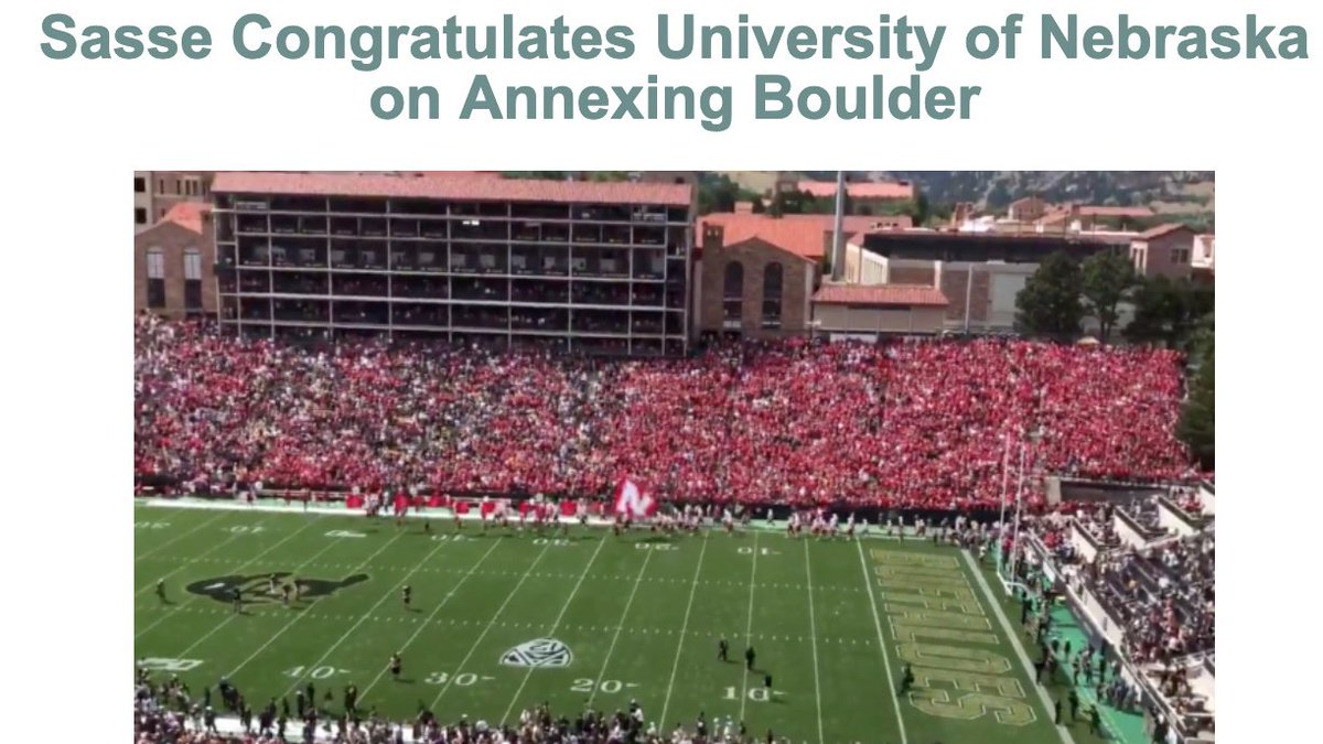 Congratulations to the University of Nebraska on being the first school in the nation with home stadiums in both the Big Ten and the Pac-12.-@SenSasse