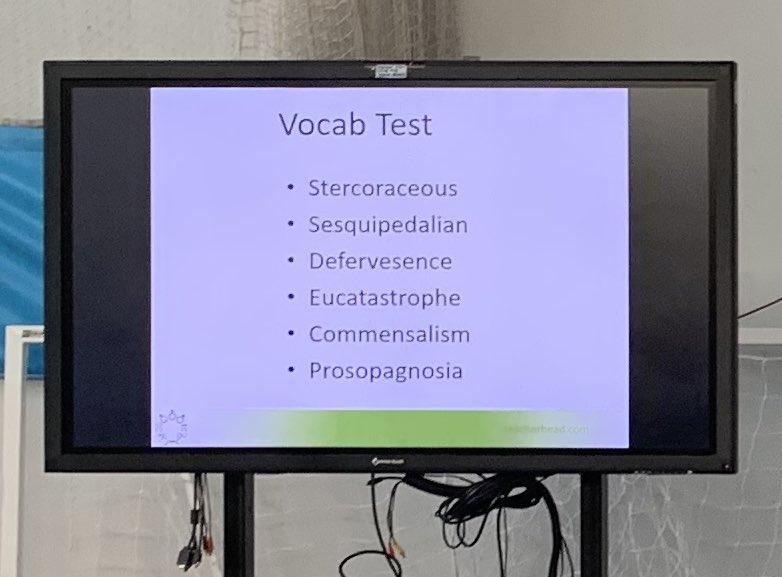 @teacherhead 's vocabulary test 😳#rED19 #rosenshine